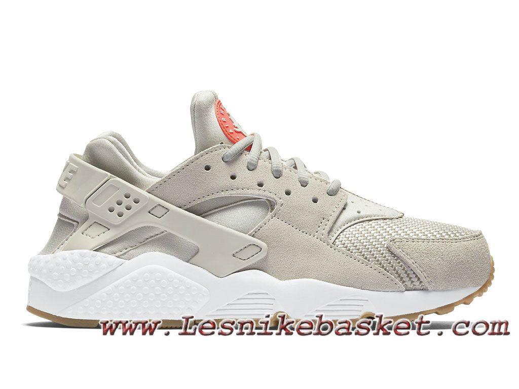 d467508d3453a Nike Air Huarache (Air Urh) Run TXT Light Bone 818597-001 Chausures Nike  Pirx Pour Homme Gris