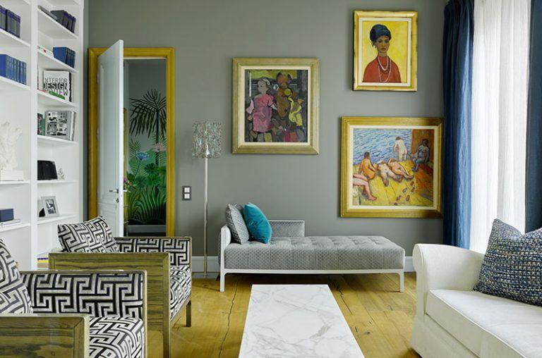 Decorator Irina Dymova Moscow Apartment Beautiful Interiors Online Bold Prints