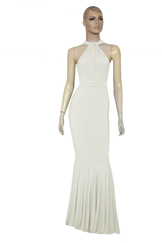 Ivory wedding dress mermaid infinity dress multiway bridesmaid gown