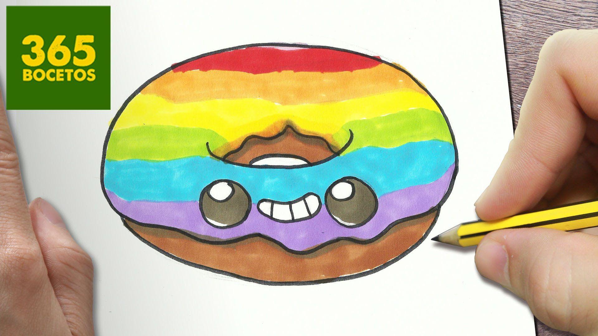 Como Dibujar Donut Kawaii Paso A Paso Dibujos Kawaii Faciles