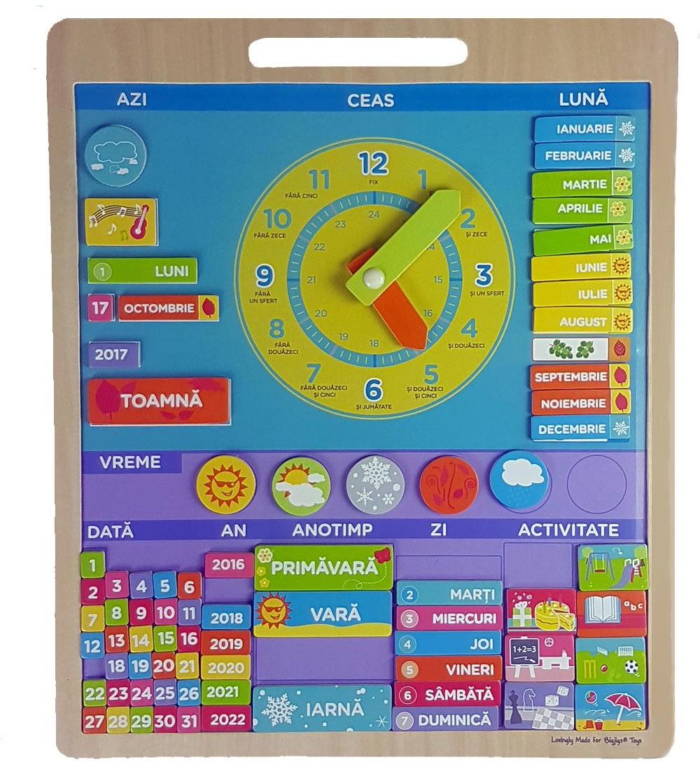 Bigjigs Calendar Magnetic Vremea Limba Romana Children Wooden Calendar In 2020 Wooden Calendar Calendar Magnets