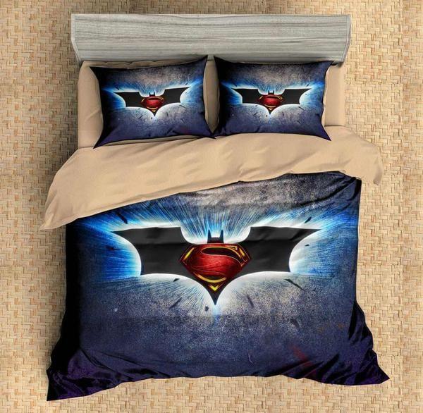 3d Customize Batman Vs Superman Bedding Set Duvet Cover Set