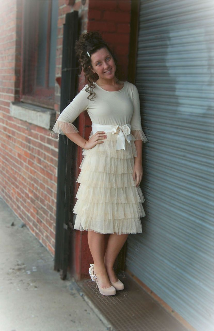 e3f545682134 Dream Dress in Cream   Dainty Jewell's Modest Apparel   Bridesmaid Dresses    Weddings   Modest Fashion   Ruffles & Lace