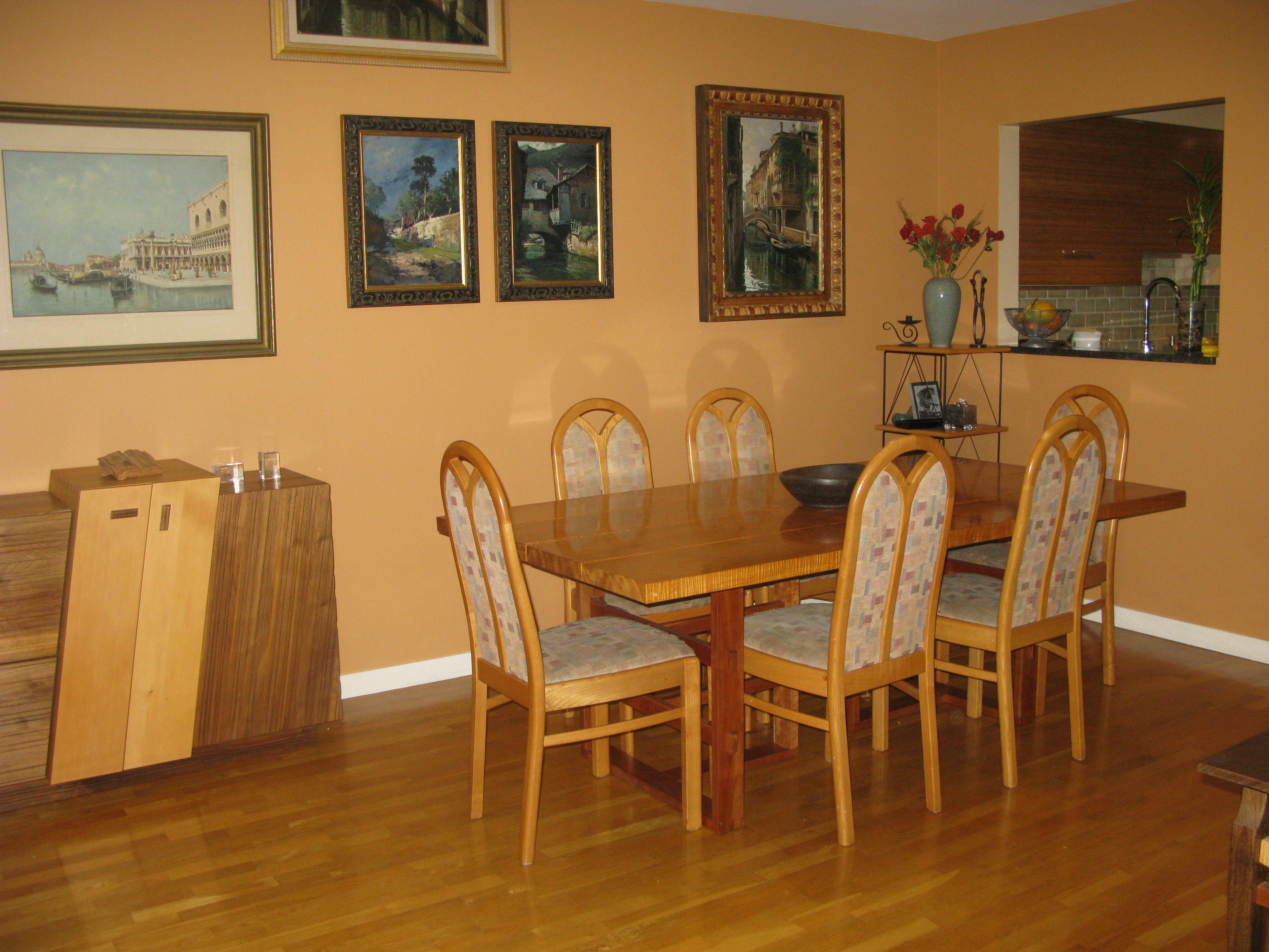 benjamin moore warm sunglow | orange dining | pinterest | benjamin