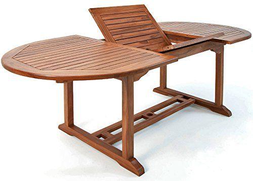 Table de jardin Vanamo Bois deucalyptus 200 x 100 x 74 cm Dépliable Extérieur Terrasse