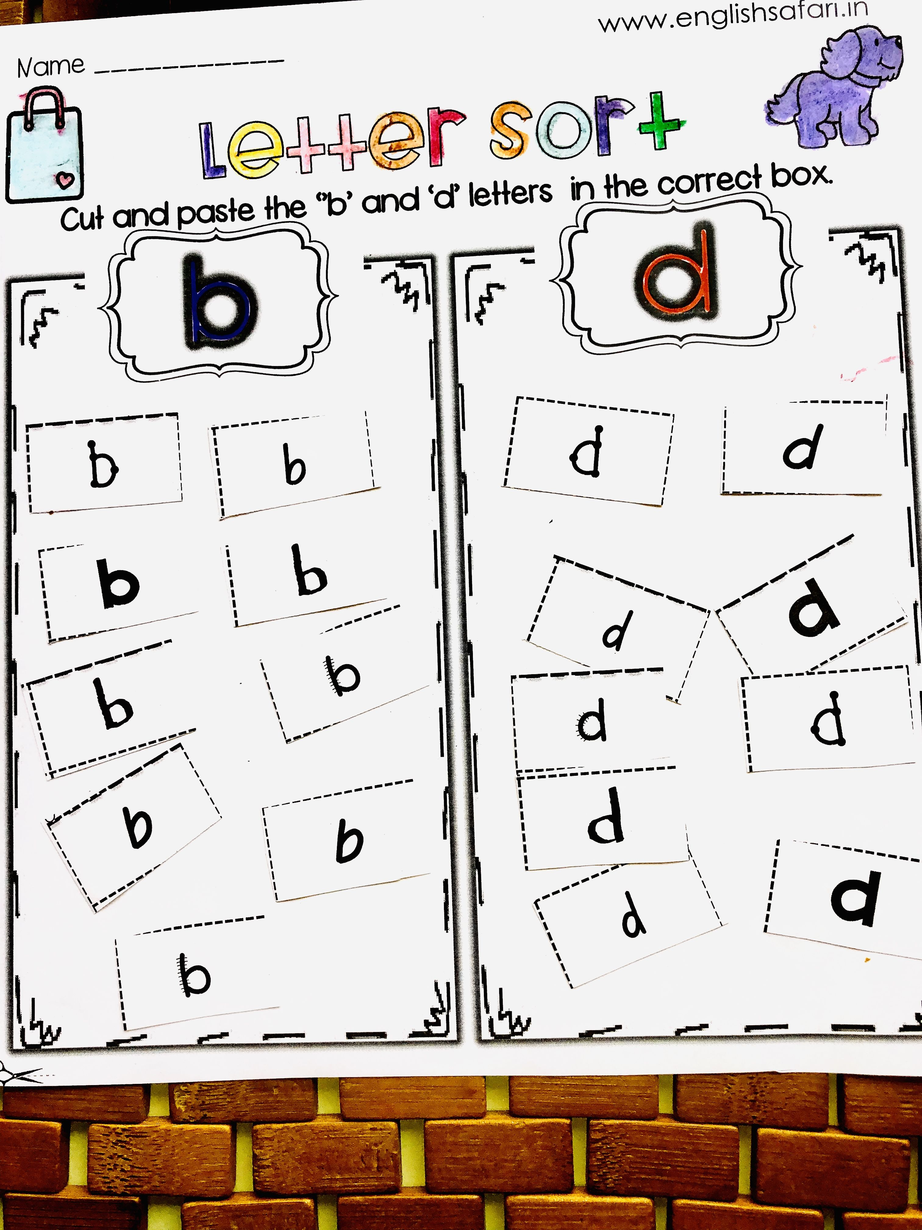 B And D Confusion Worksheets Free Englishsafari In