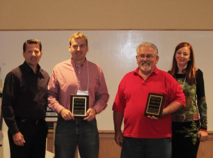 Congratulations to Dan Beaudet Co. on receiving Quick Drain's 2012 Rep of the Year! Ben Molloy accepted the award plaque at the Quick Drain National Sales Meeting held in Denver, CO. From left to right: Jim Van Landingham, (VP Residential Sales), Ben Molloy (Dan Beaudet Co.), Chris Tomafsky, 2011 recipient, (T.Global Sales), Barbora Hulikova-Eriebach, (CEO Quick Drain)