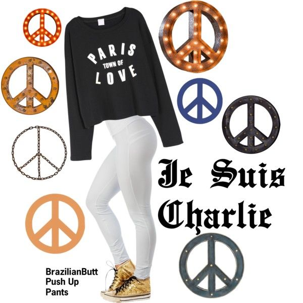 """JE SUIS CHARLIE"" by casadelola on Polyvore"