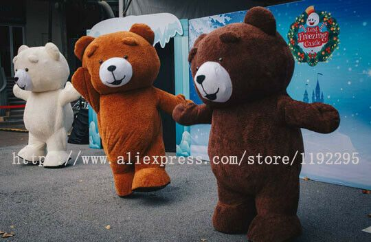 Inflatable Teddy Bear Mascot Costume Cosplay Party Fancy Dress Outfit Adult Suit