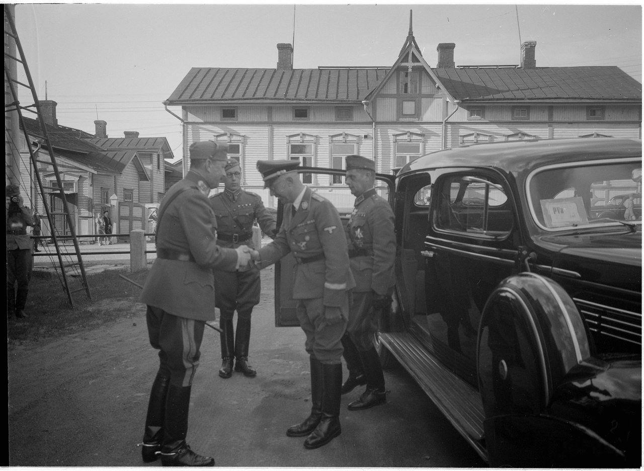Himmler visited Marshal of Finland Carl-Gustaf Mannerheim. July 1942