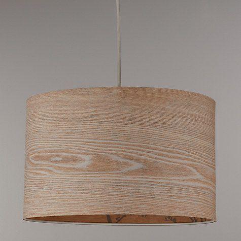 John Lewis Partners Flock Birds Lampshade Wood Grey Lamp Shades Ceiling Lamp Shades Wood