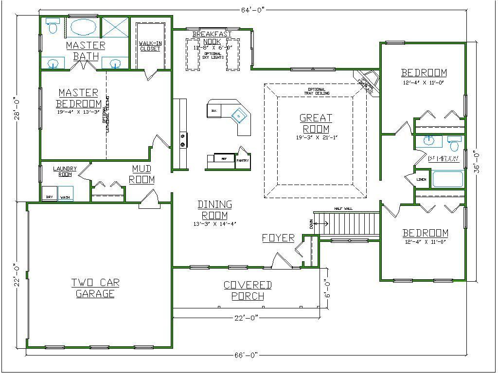 Master Bathroom Floor Plans With Walk-in Closet