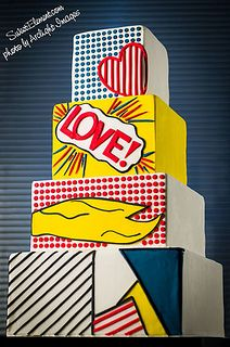 Lichtenstein Inspired Wedding Cake by SweetElement, via Flickr I WANT THIS FOR MY BIRTHDAY