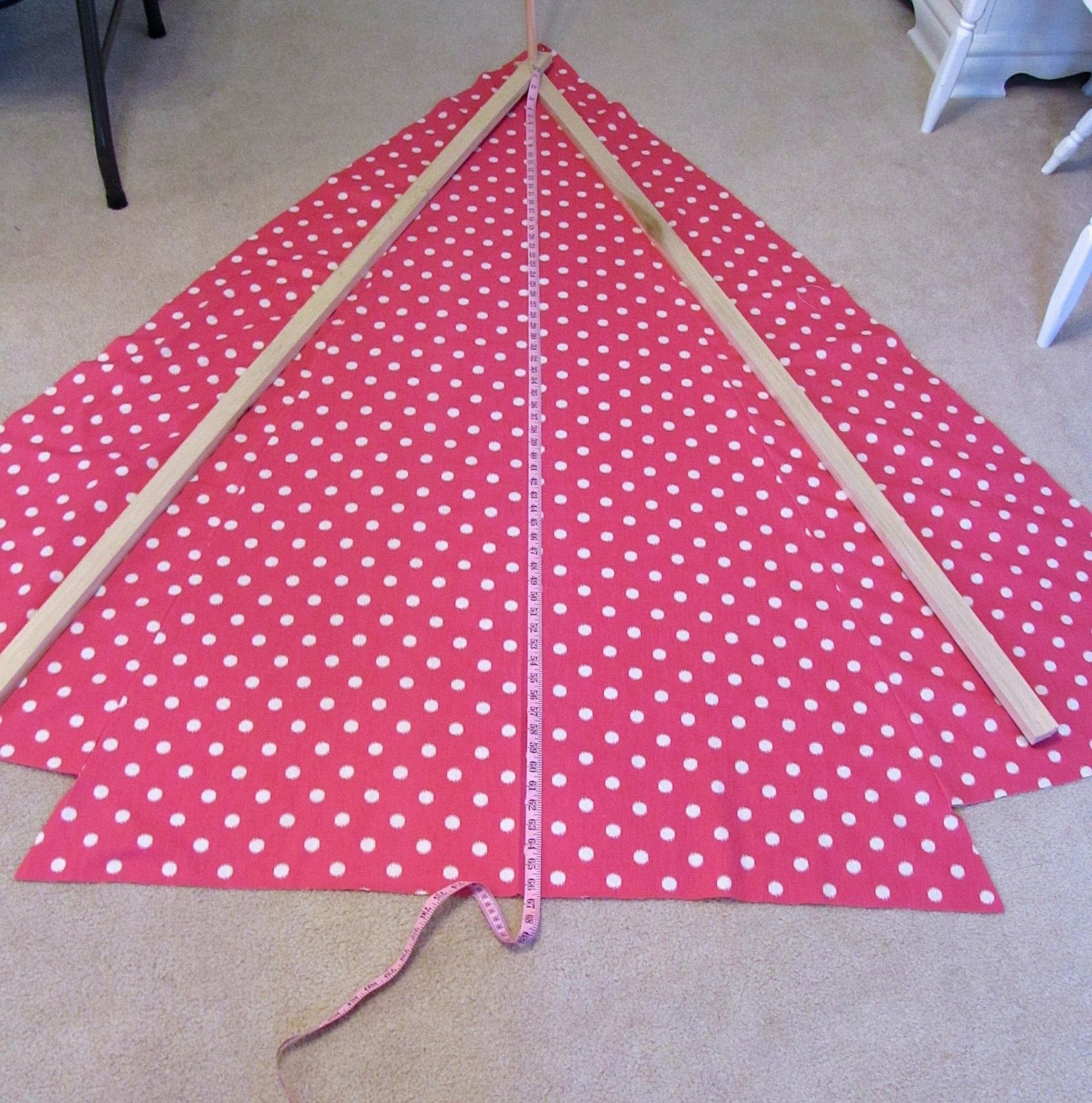 fabric tent tutorial, diy fabric tent, a-frame tent, kids tent ...