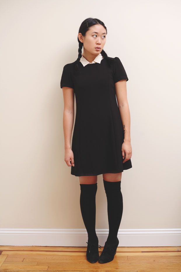 4f45b5e66 Easy DIY  Halloween Costume from your Closet (UsingBlack Thigh-High Socks)