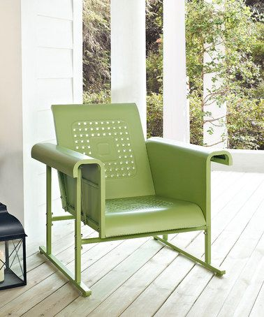 Take A Look At This Oasis Green Veranda Glider Chair By Crosley On Zulily Today Glider Chair Patio Rocking Chairs Retro Chair