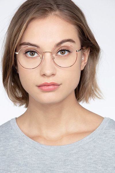 Photo of Progress – Round Brown Silver Frame Eyeglasses | EyeBuyDirect