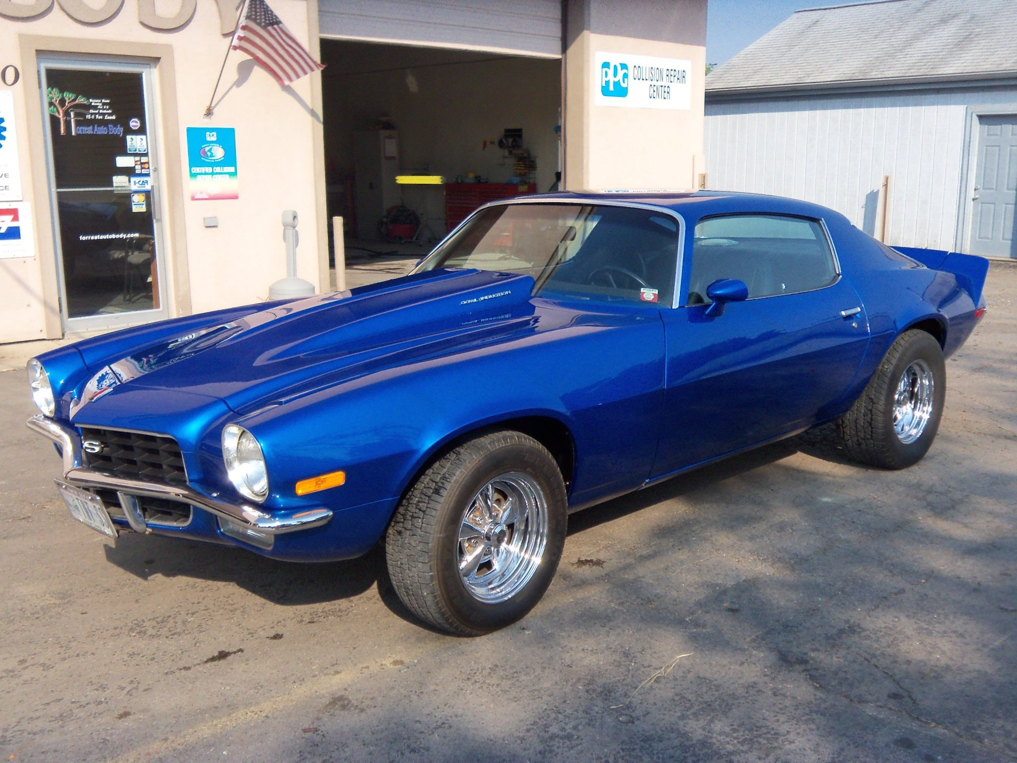 1973 Camaro - very cool blue  | Camaros | Chevy muscle cars