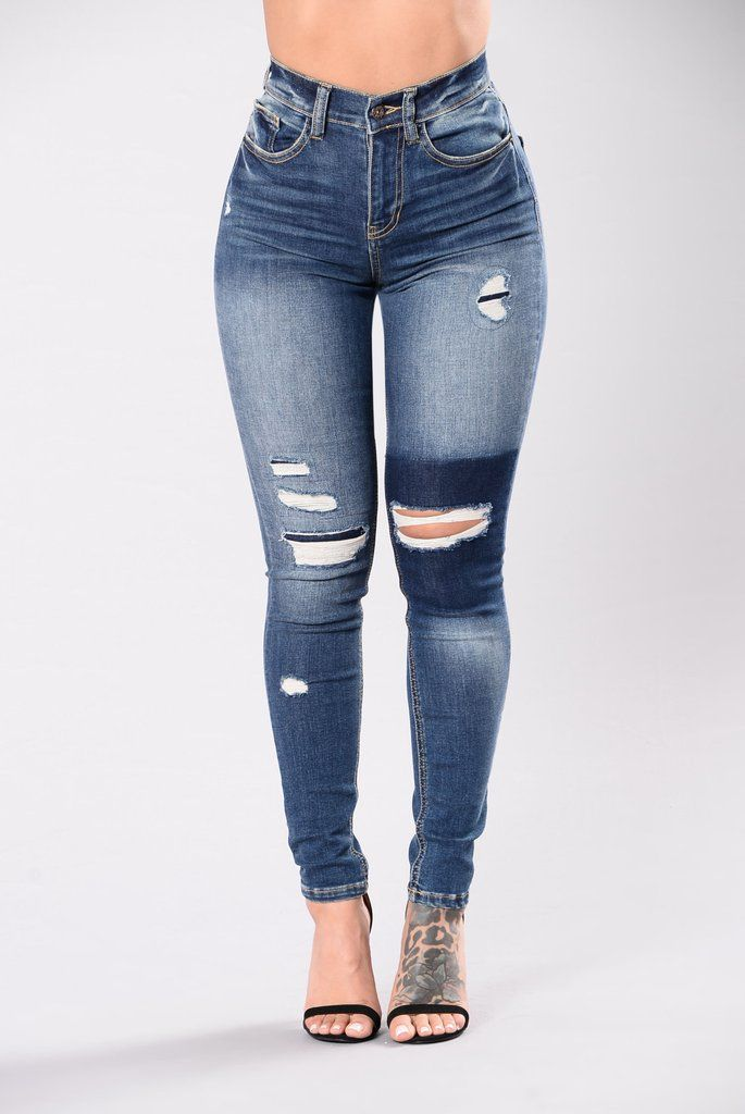 b499e277b6c20 Try Again Jeans - Dark Wash Plus Size Ripped Jeans