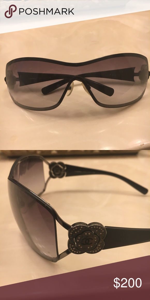 129a0d2692 Chanel sunglasses Selling these beautiful Chanel glasses in good condition  missing some stone from the flowers on both side not very noticeable  authentic ...