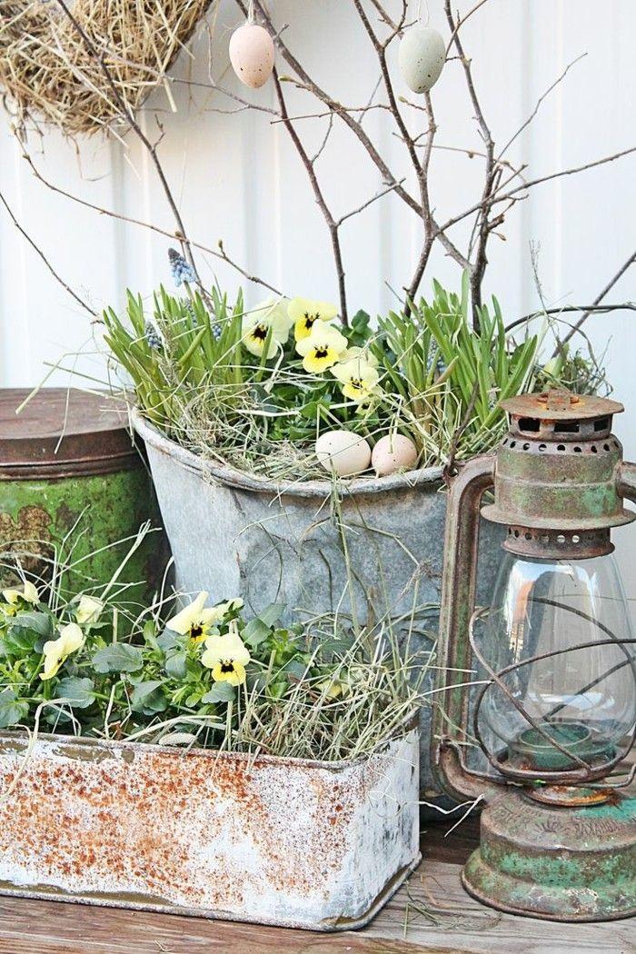 Garten Dekorieren Zu Ostern Und Fröhlich Festliche Stimmung