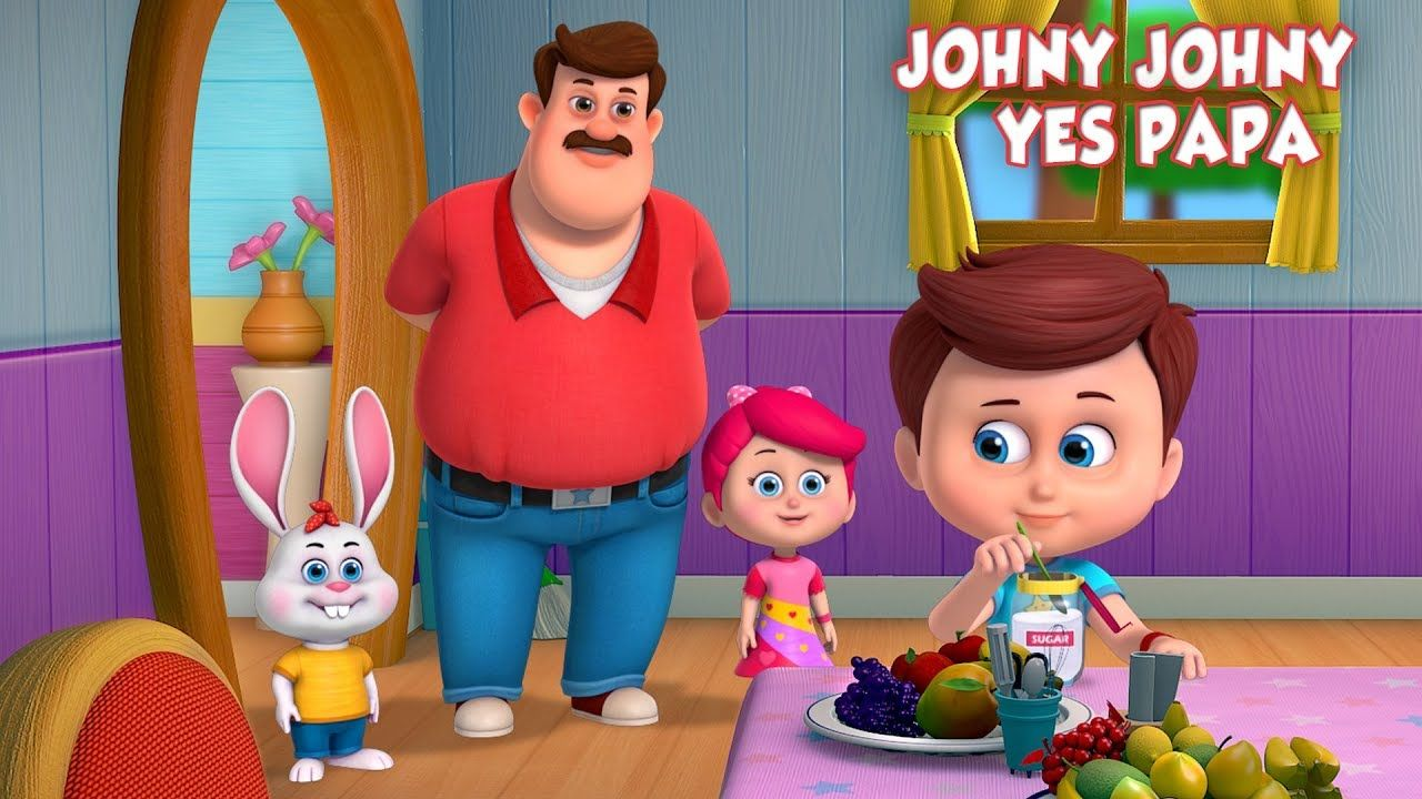 Johny Johny Yes Papa Nursery Rhyme From Betty And Bunny Nursery Rhymes Songs For Children Kids Nursery Rhymes Nursery Rhymes Songs Kids Songs