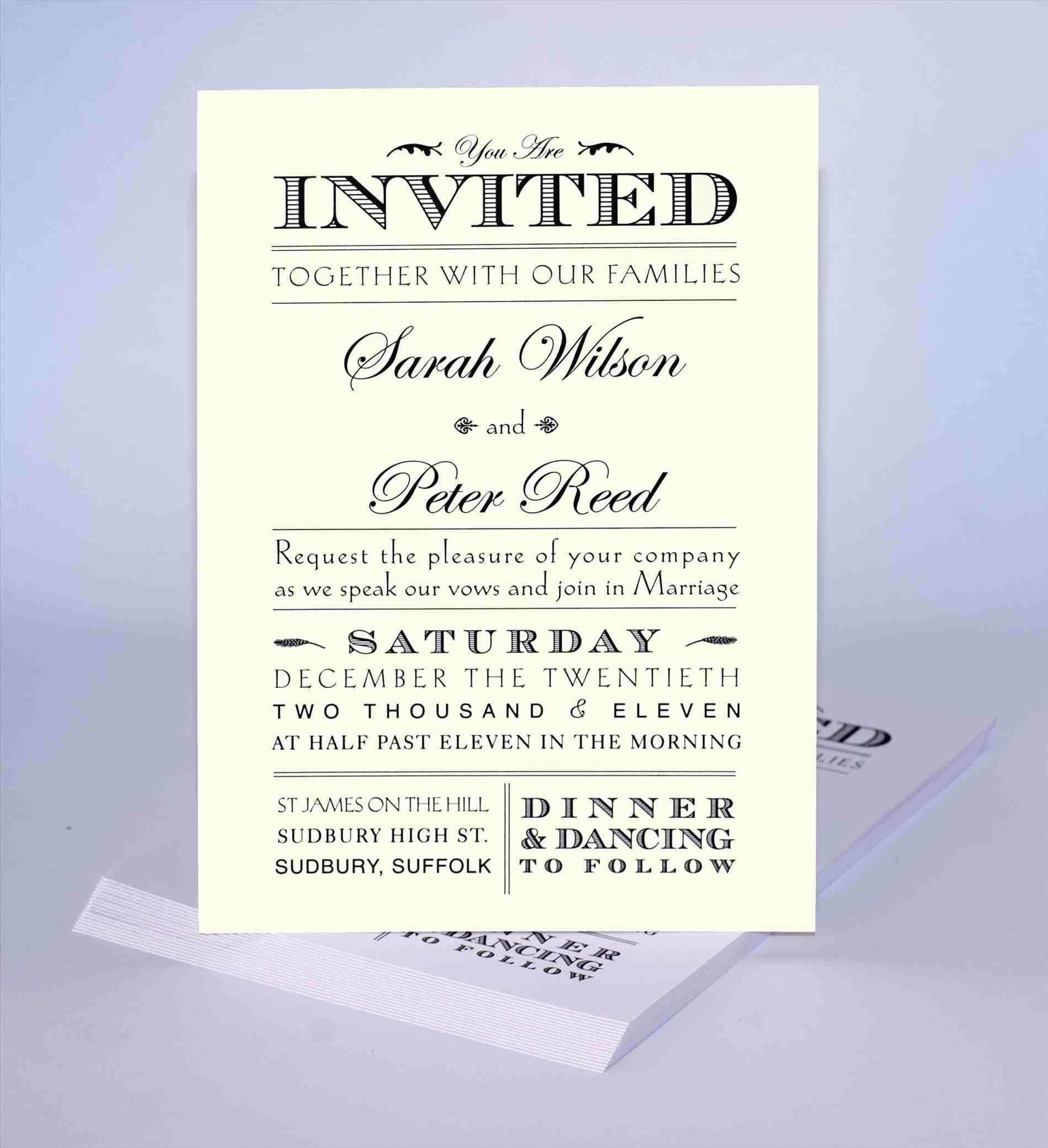 unique wedding invitation wording  Marina Gallery Fine art