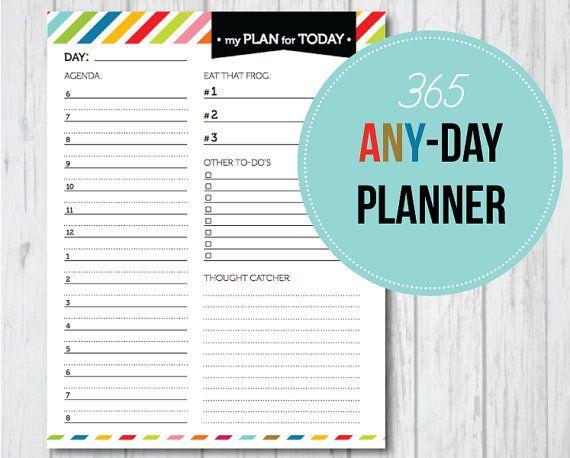 Cute, cute, cute!! 365 Any-Day Planner PDF Printable   Printables ...