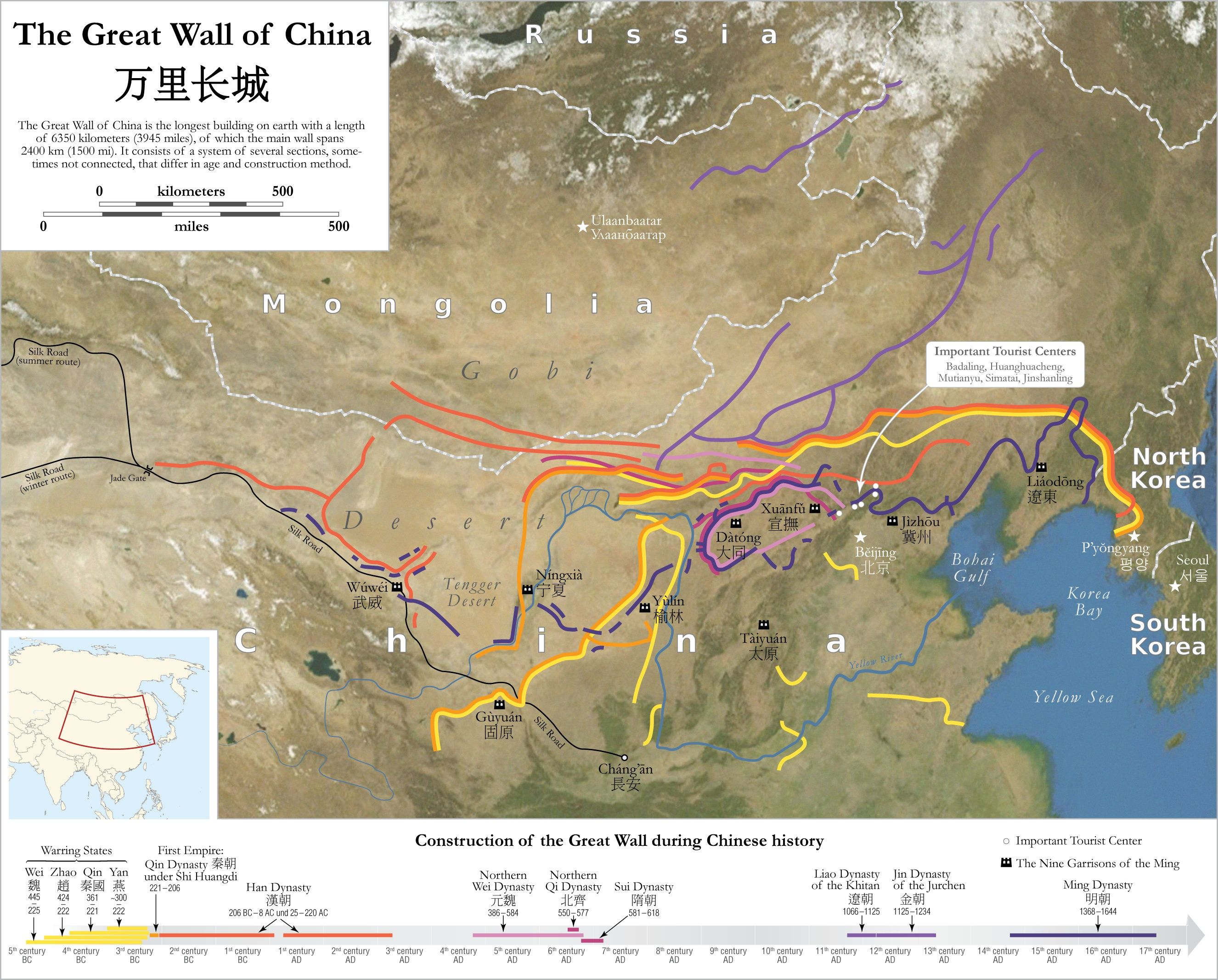 Great wall china map world map pinterest china and mongolia great wall china map gumiabroncs Gallery
