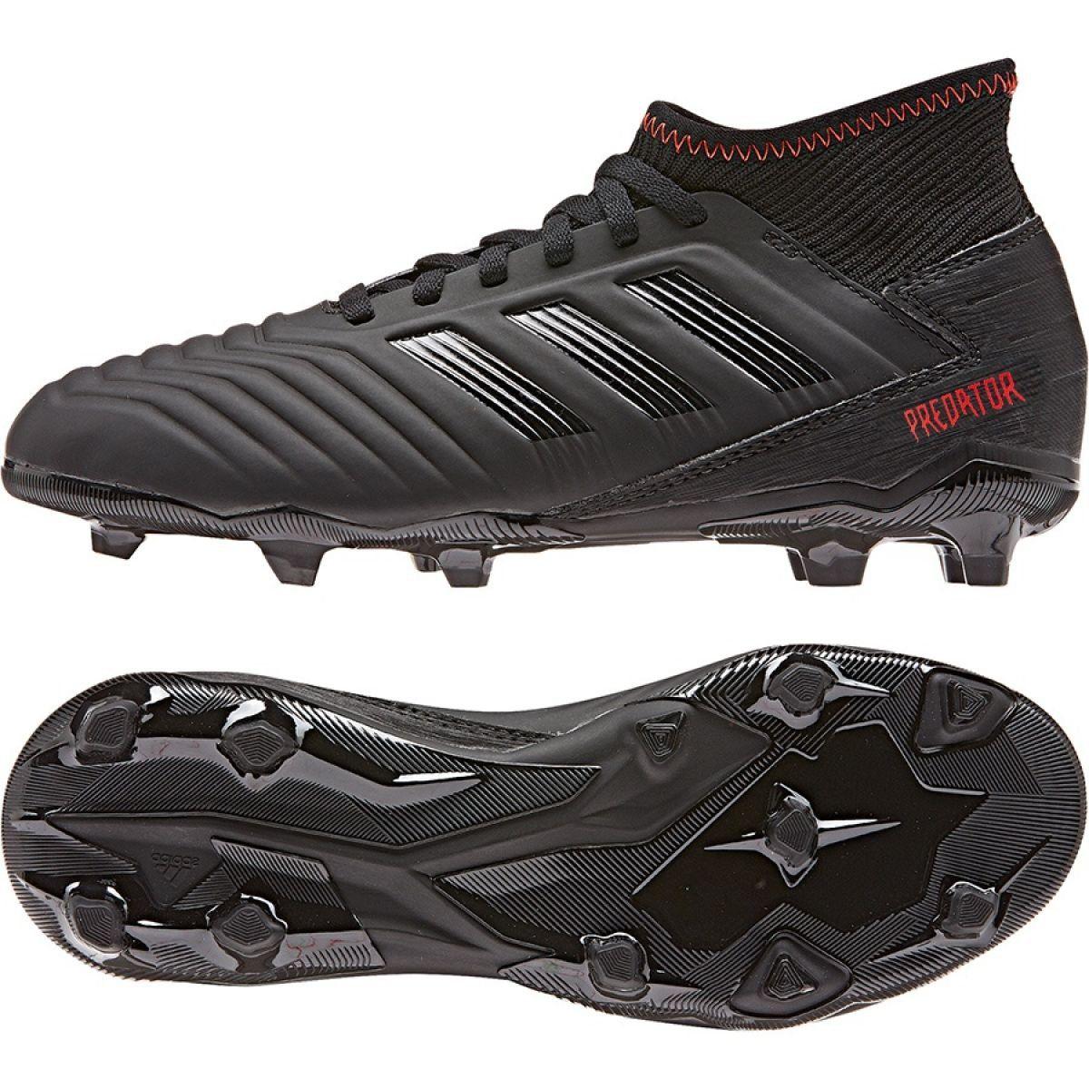 Buty Pilkarskie Adidas Predator 19 3 Jr D98003 Czarne Wielokolorowe Black Football Boots Football Boots Adidas Predator