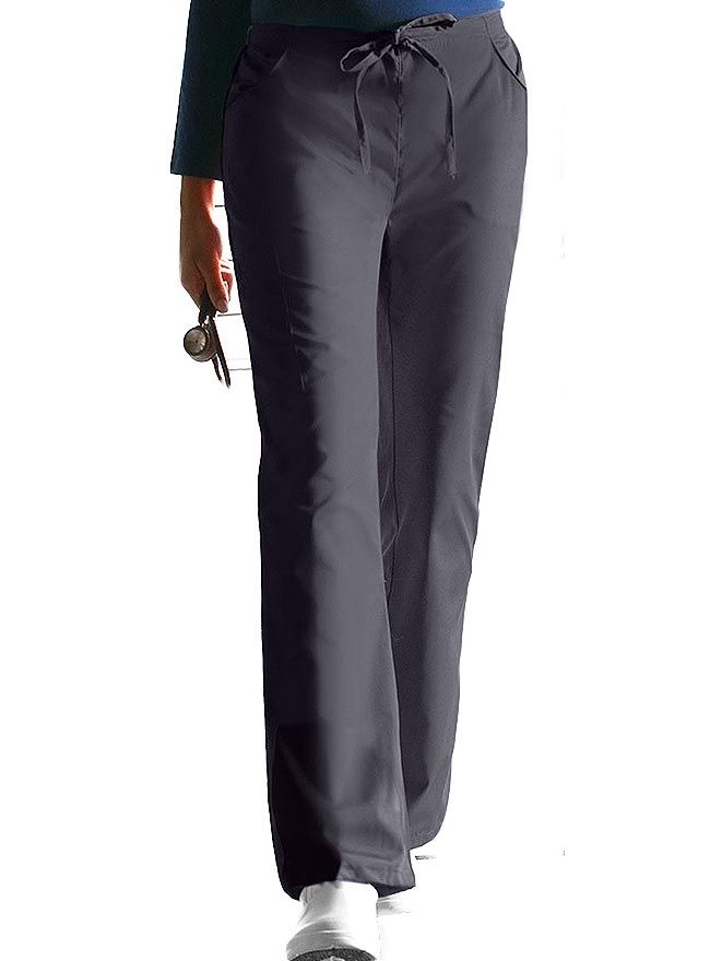 2bcc2b015f4 Style Code: (DI-854206T) This is a Missy fit, mid-rise, moderate flare leg  pant that has an adjustable drawstring and back elastic waistband.