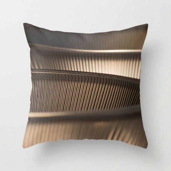 Taupe Pillow Cover  Modern Pillow  Abstract by NancyJsLifestyle