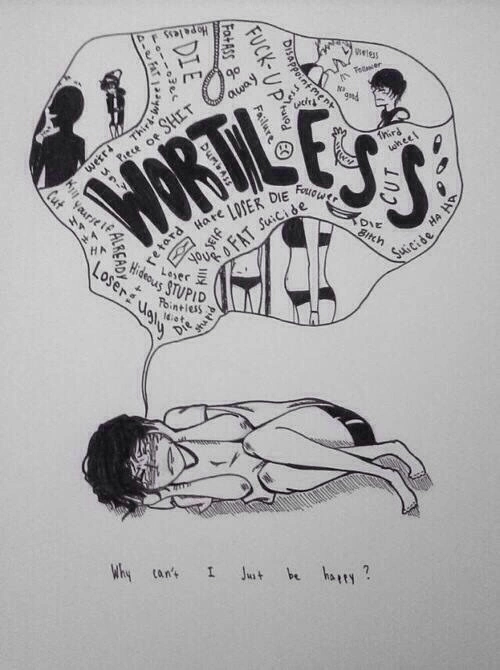 depression drawings life is a contest