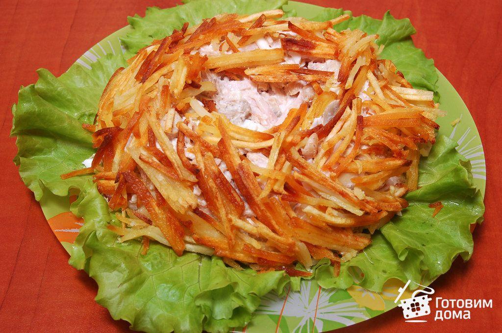 """Рецепт Салат """"Гнездо глухаря""""   Салат с картофелем ..."""