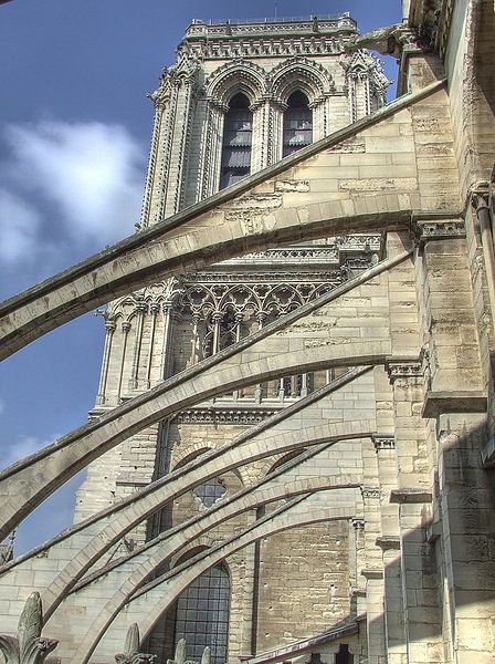 File Notre Dame Buttress Jpg Wikipedia The Free Encyclopedia Catedral Catedral De Notre Dame Paris