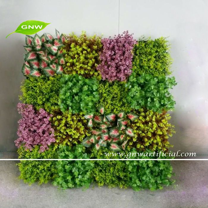 GNW GLW077 Artificial Green Plastic Plants Fake Vertical Garden Living Wall  Indoor Landscaping