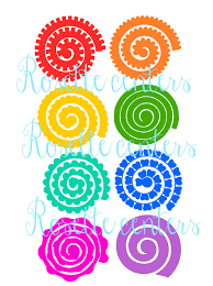 Free Flower Svg : flower, Image, Result, Rolled, Flower, Paper, Template,, Files,, Template