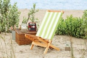 The Simple Beach Chair Consists Of Two Basic Parts The