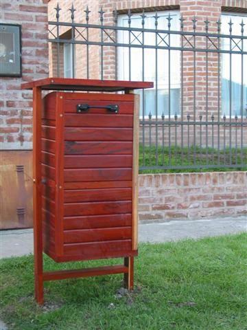 Cestos basura de madera buscar con google rene - Cestos de madera ...