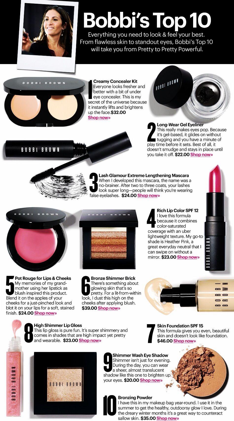 Bobbi Brown tutorial Makeup names, Bobbi brown makeup