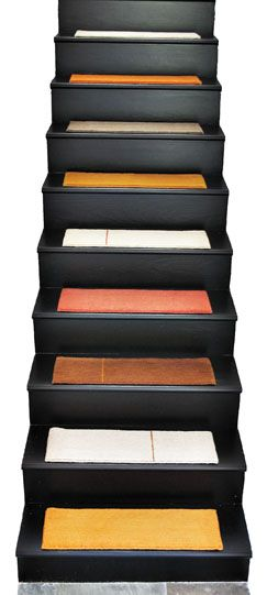COULD *PAINT* BLOCK TREADS LIKE THIS! Alto Stair Treads From Liza Phillips  Design