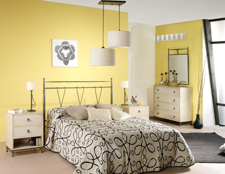 Dormitorio de forja y madera mod Poseidon fabricado a mano tonos