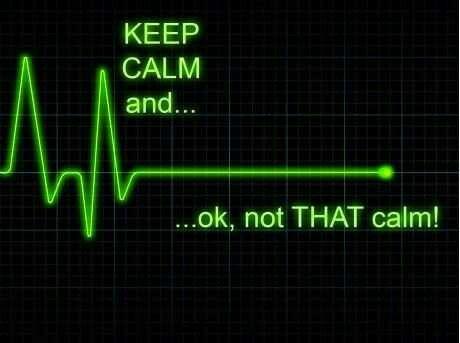 Not that calm...