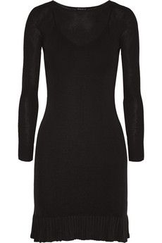 Theory Torylev ruffle-trimmed stretch-knit mini dress | NET-A-PORTER
