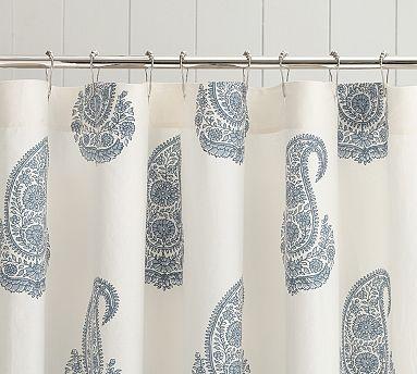 Rayna Paisley Shower Curtain Paisley Shower Curtain Curtains