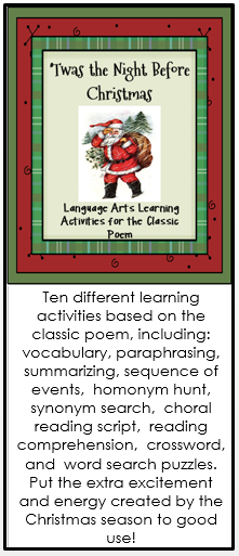 Twas The Night Before Christmas Reading And Language Activities Christmas Reading Christmas Language Arts The Night Before Christmas