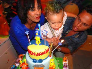 Solange Couto comemoraram os dois anos de vida do pequeno Benjamim ~ Cine Planeta