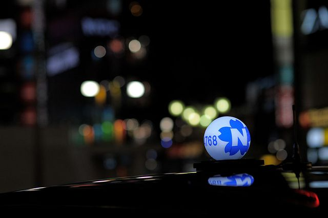 Japanese Taxi Toplights by joe holmes