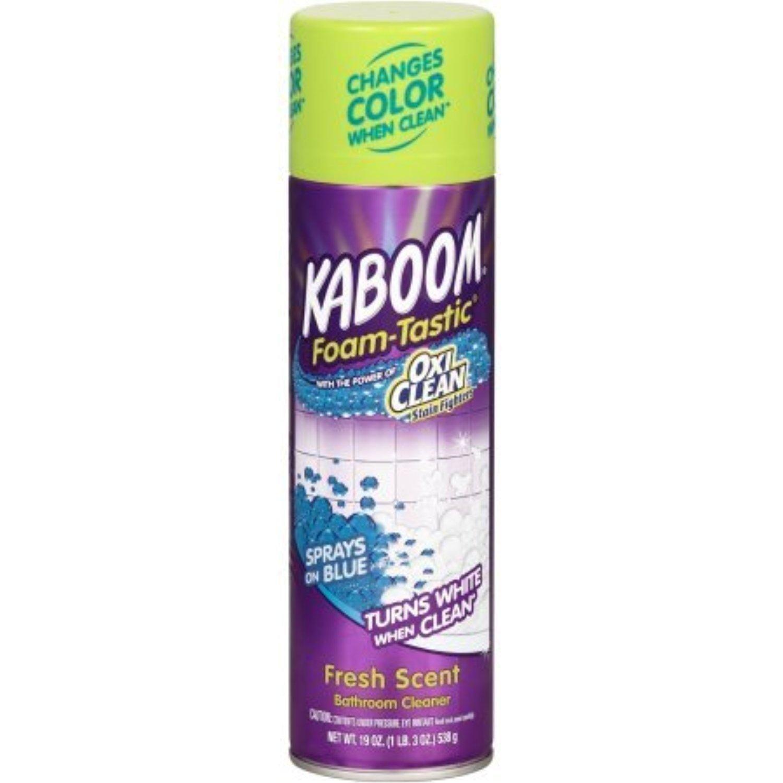 Kaboom Foam Tastic Fresh Scent Bathroom Cleaner 19 Oz 6 00 X 11 60 X 5 50 Inches Bathroom Cleaner Oxiclean Cleaning