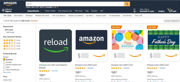 How To Buy Gift Card On Amazon Instantly Amazon Gift Cards Buy Gift Cards Electronic Gift Cards